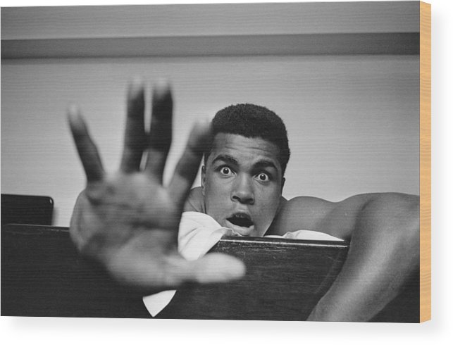 One Man Only Wood Print featuring the photograph Give Me Five by Len Trievnor