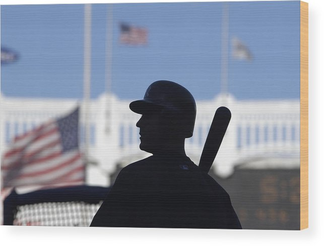 Event Wood Print featuring the photograph Jeter Takes Batting Practice by Ezra Shaw