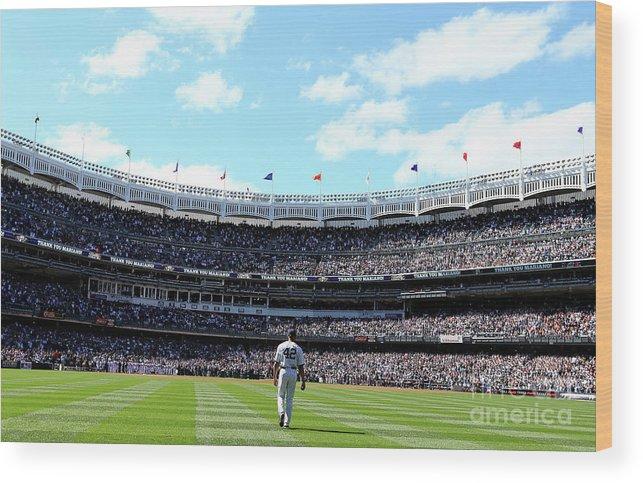 American League Baseball Wood Print featuring the photograph San Francisco Giants V New York Yankees by Elsa