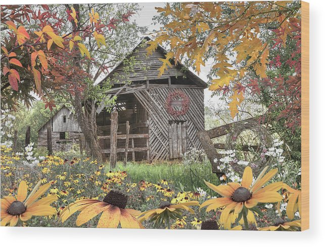 Barn Wood Print featuring the photograph Soft Country Colors by Debra and Dave Vanderlaan