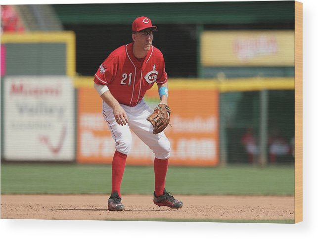 Great American Ball Park Wood Print featuring the photograph Todd Frazier by Andy Lyons