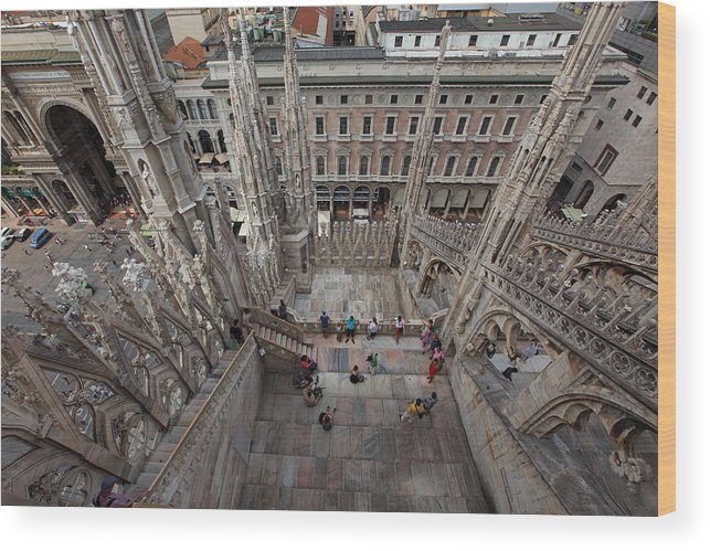 Italy Wood Print featuring the photograph Milan From The Roof by Susan Rovira