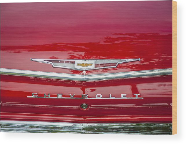 1962 Chevy Wood Print featuring the photograph 1962 Chevy Impala 409 by Rich Franco
