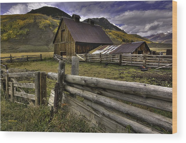 Landscape Wood Print featuring the photograph A Simpler Life by Bill Sherrell