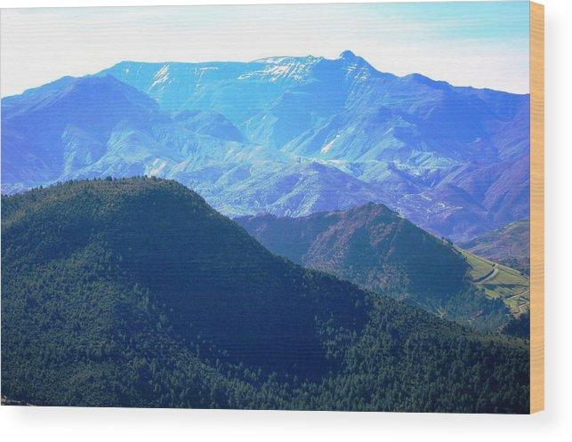Morocco Wood Print featuring the photograph Atlas Mountains 13 by Teresa Ruiz