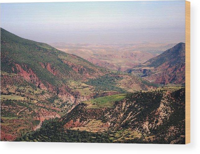 Morocco Wood Print featuring the photograph Atlas Mountains 18 by Teresa Ruiz