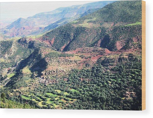 Morocco Wood Print featuring the photograph Atlas Mountains 4 by Teresa Ruiz