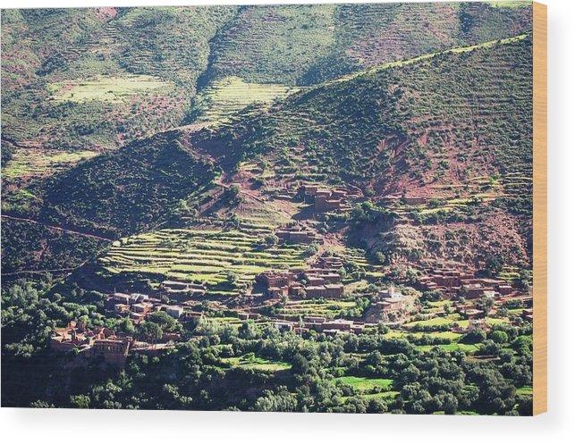 Morocco Wood Print featuring the photograph Atlas Mountains 5 by Teresa Ruiz