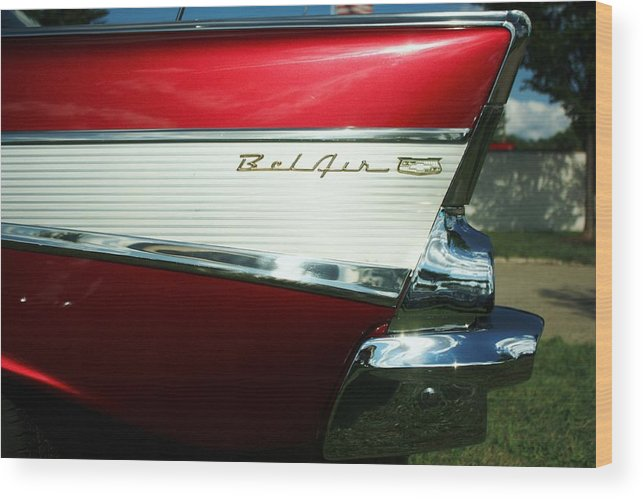 Cars Wood Print featuring the photograph Belair by Mary Peters
