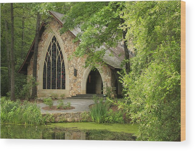 Callaway Wood Print featuring the photograph Callaway Chapel by Mountains to the Sea Photo