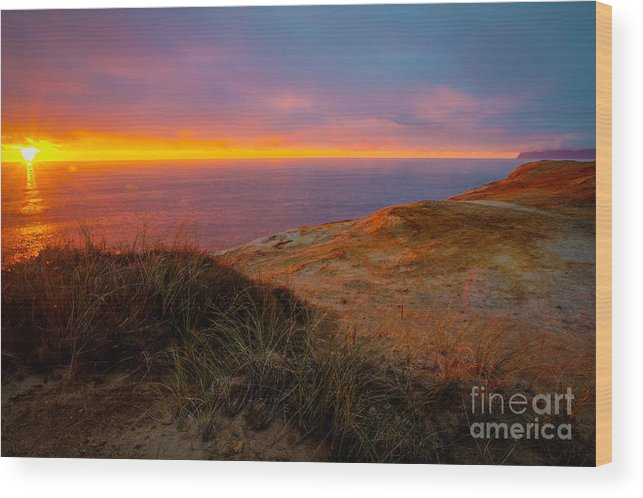 Cape Kiwanda Wood Print featuring the photograph Cape Kiwanda Sunset by Matt Hoffmann