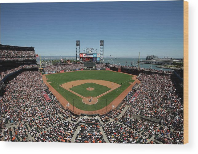 San Francisco Wood Print featuring the photograph Chicago Cubs V San Francisco Giants by Ezra Shaw