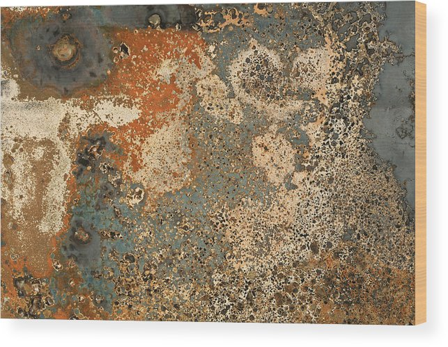 Metal Wood Print featuring the photograph Close Up Burned Car On A Parking In Denmark by Jean Schweitzer