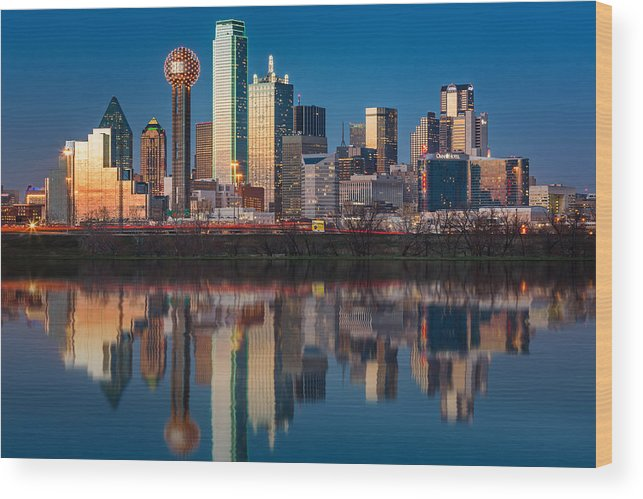 Downtown Wood Print featuring the photograph Dallas Skyline by Mihai Andritoiu