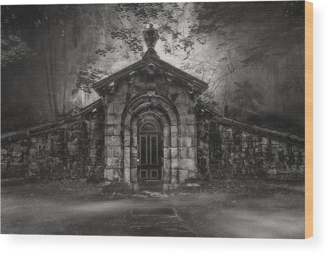 Cemetary Wood Print featuring the photograph Do Not Enter by Gary Smith