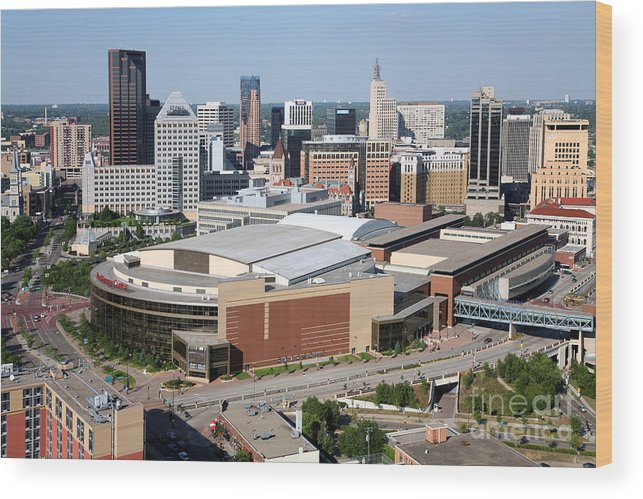 1st National Bank Wood Print featuring the photograph Downtown Skyline Of St. Paul Minnesota by Bill Cobb
