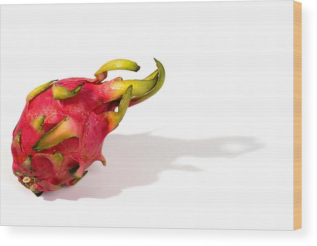 Dragon Wood Print featuring the photograph Dragon Fruit by Frank Gaertner