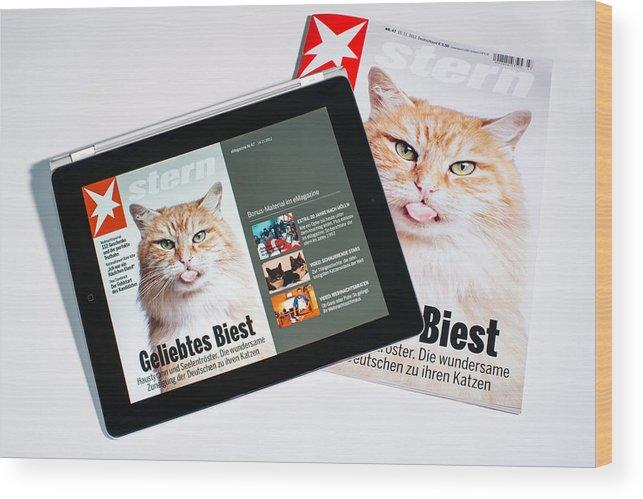 E-magazine Wood Print featuring the photograph e-Magazine by Frank Gaertner