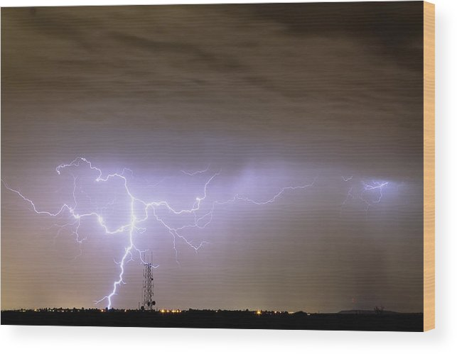 Lightning Wood Print featuring the photograph Electric Night by James BO Insogna