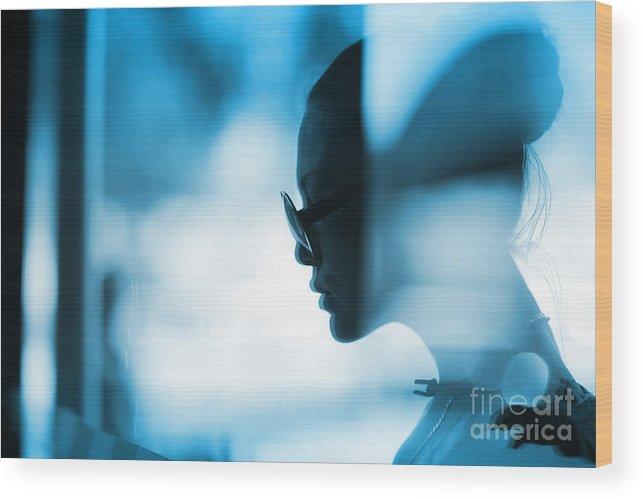 Woman Wood Print featuring the photograph Fashion Woman Portrait by Konstantin Sutyagin