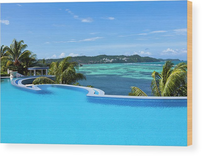 Infinity Swimming Pool Wood Print