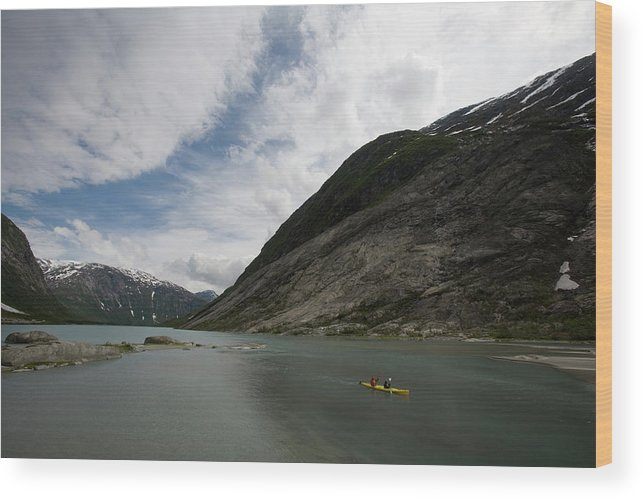 Adult Wood Print featuring the photograph Kayaking To The Nigardsbreen Glacier by Jose Azel