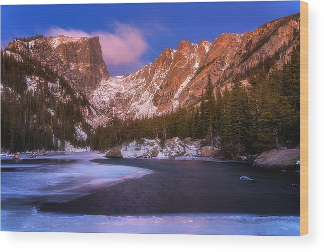 Lake Wood Print featuring the photograph Lake Of Dreams by Darren White