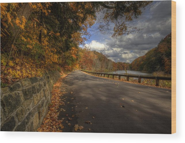 Mill Creek Park Wood Print featuring the photograph Mill Creek Park In Autumn by David Dufresne