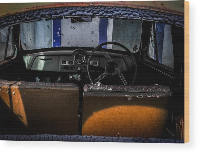 2013 Wood Print featuring the photograph Old Car by Gallery On Spot