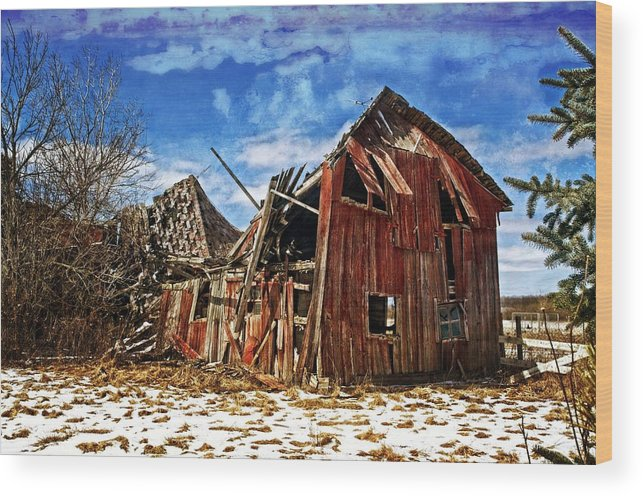 Barn Wood Print featuring the photograph Old Dreams by Cheryl Cencich
