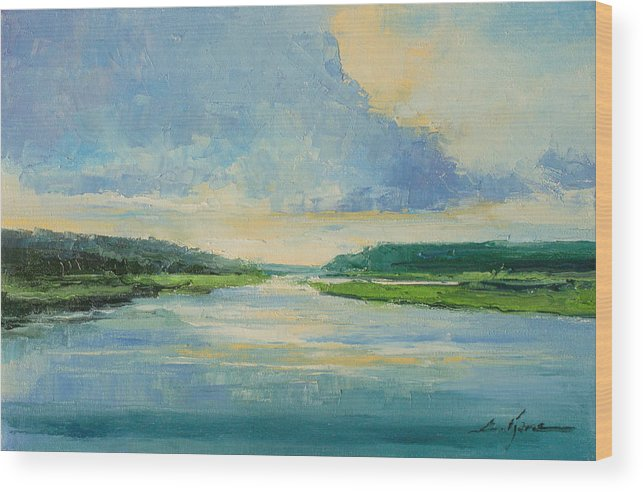 River Wood Print featuring the painting On The River by Luke Karcz