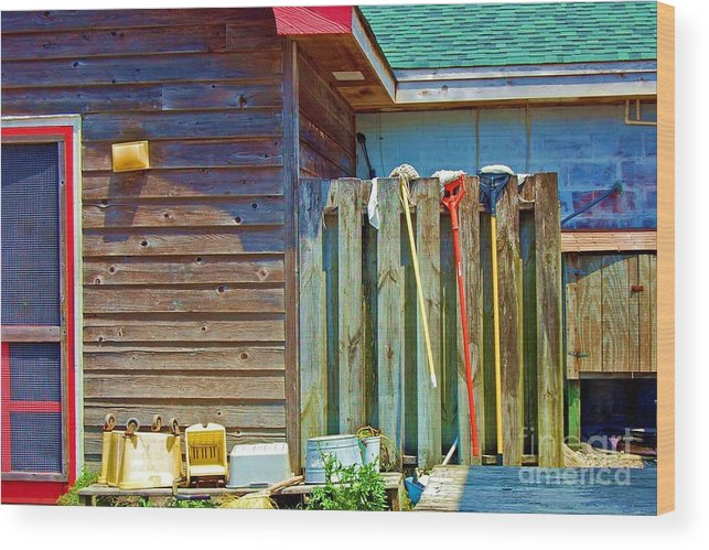 Building Wood Print featuring the photograph Out To Dry by Debbi Granruth