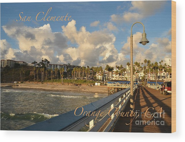 San Clemente Wood Print featuring the photograph San Clemente by Timothy OLeary