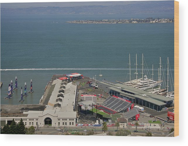 San Francisco Wood Print featuring the photograph San Francisco America's Cup by Steven Lapkin