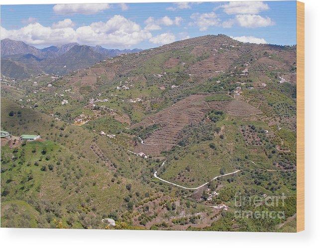 Spain Wood Print featuring the photograph Sierra De Almijara Hills by Rod Jones