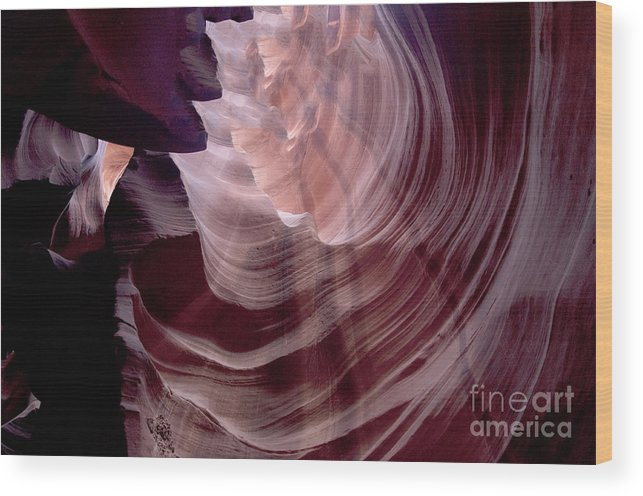 Lower Wood Print featuring the photograph Slot Canyon by Brenda Kean