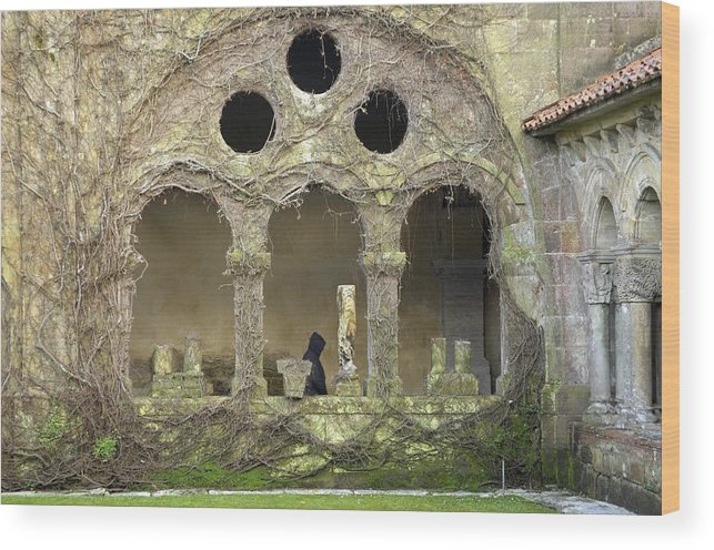 Europe Wood Print featuring the photograph Spain. Santillana De Mar. Santa Juliana by Everett