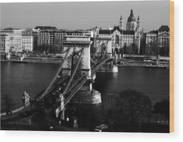Black Wood Print featuring the digital art The Bridge by Vitaly Kozlovtsev