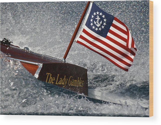 Skiff Wood Print featuring the photograph The Lady Gambles by Steven Lapkin