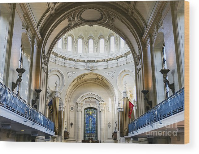 America Wood Print featuring the photograph The United States Naval Academy Chapel by John Greim