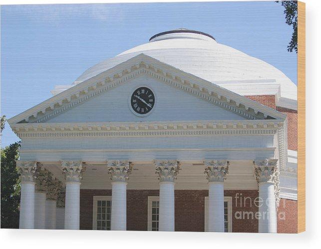 University Of Virginia Wood Print featuring the photograph University Of Virginia Rotunda by Jason O Watson