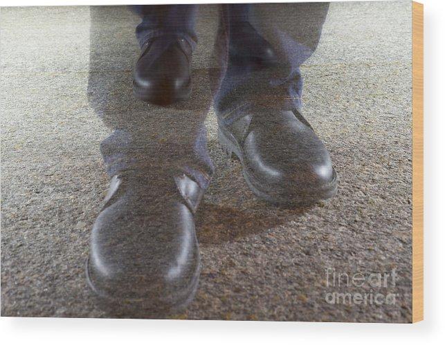 Walking Wood Print featuring the photograph Walking by Mats Silvan