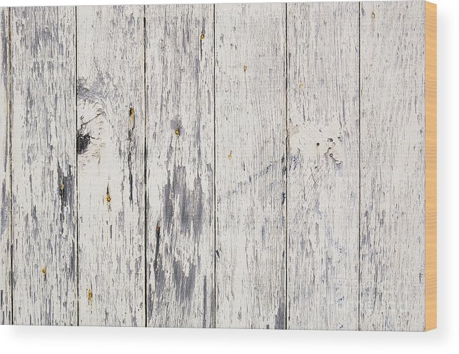 Abstract Wood Print featuring the photograph Weathered Paint On Wood by Tim Hester