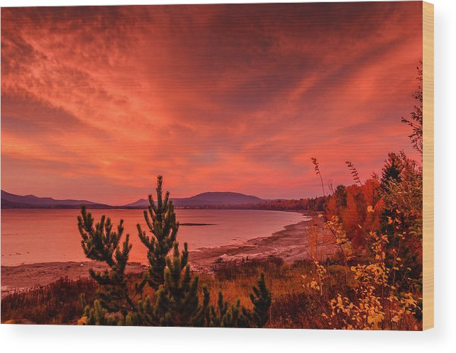Lake Pend Oreille Wood Print featuring the photograph 10-25-2014-2 by Kirk Miller