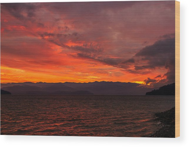 Lake Pend Oreille Wood Print featuring the photograph 10-30-2014 by Kirk Miller