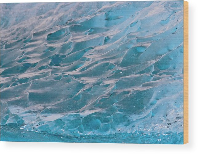 Cold Wood Print featuring the photograph Iceberg Formations Broken by Tom Norring