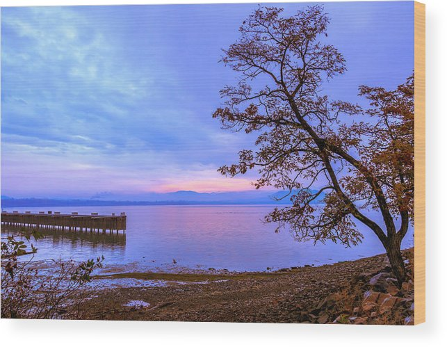 Lake Pend Oreille Wood Print featuring the photograph 11-01-2014 by Kirk Miller