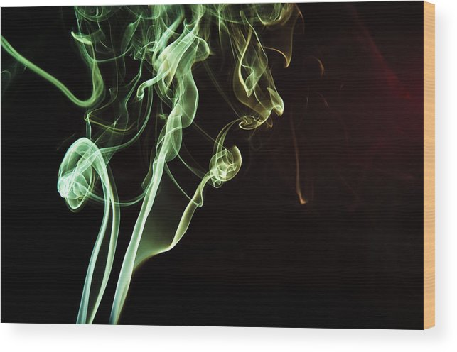Smoke Wood Print featuring the photograph Colored Smoke by Rashad Penn