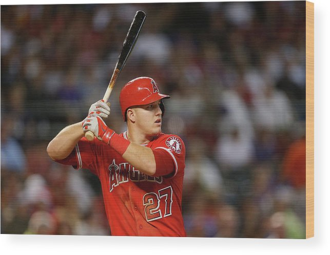 People Wood Print featuring the photograph Los Angeles Angels Of Anaheim V Arizona 14 by Christian Petersen