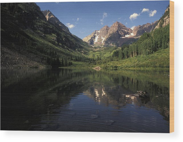 Alpine Wood Print featuring the photograph Colorado Rockies by Scott Warren